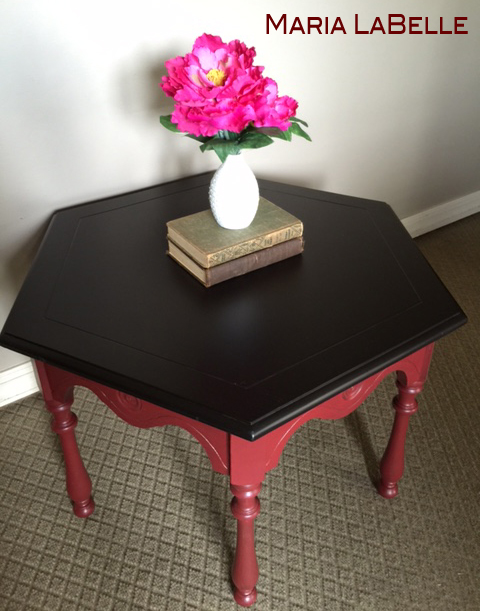 Side Table Java Gel {Love My DIY Home}