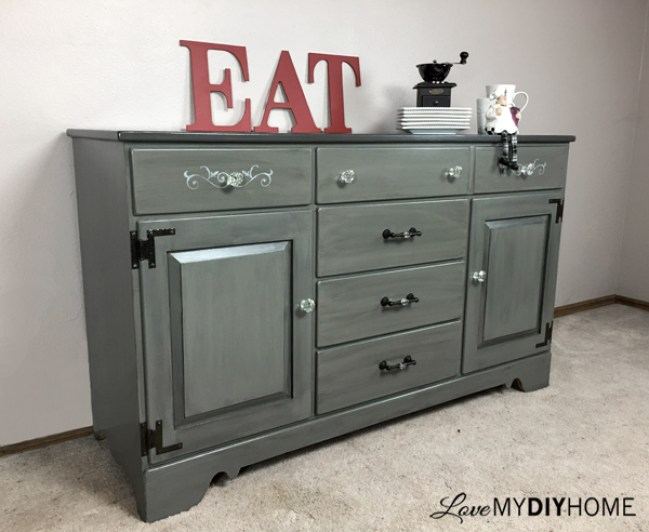 China Cabinet turned Buffet {Love My DIY Home}
