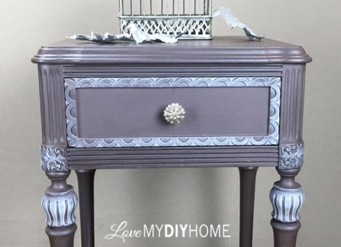 Antique Side Table Updated with OFMP {Love My DIY Home}