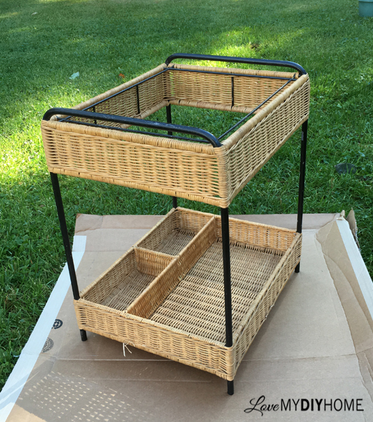 Wicker Cart Upcycle {Love My DIY Home}