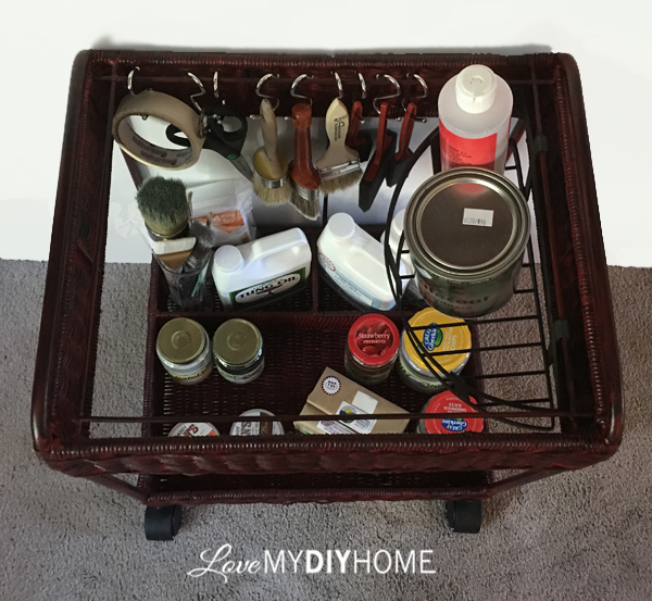 Wicker Cart Re-purposed {Love My DIY Home}
