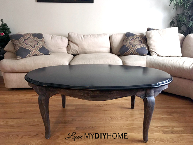 OFMP Ethan Allen Coffee Table Updated  {Love My DIY Home}