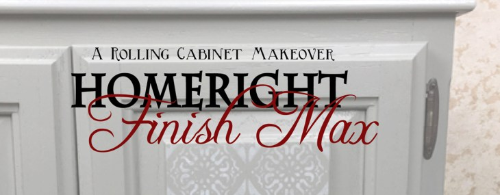 Rolling Cabinet Makeover with HomeRight Finish Max Sprayer