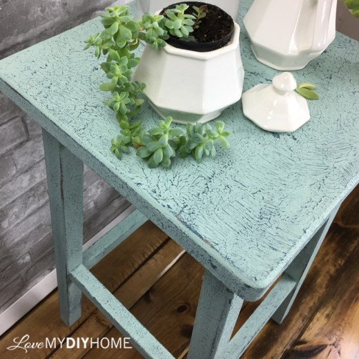Ivy Plant Table Salt Wash {Love My DIY Home}