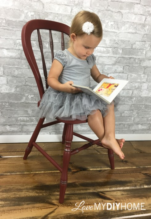 Maddie Decorates the Chair {Love My DIY Home}