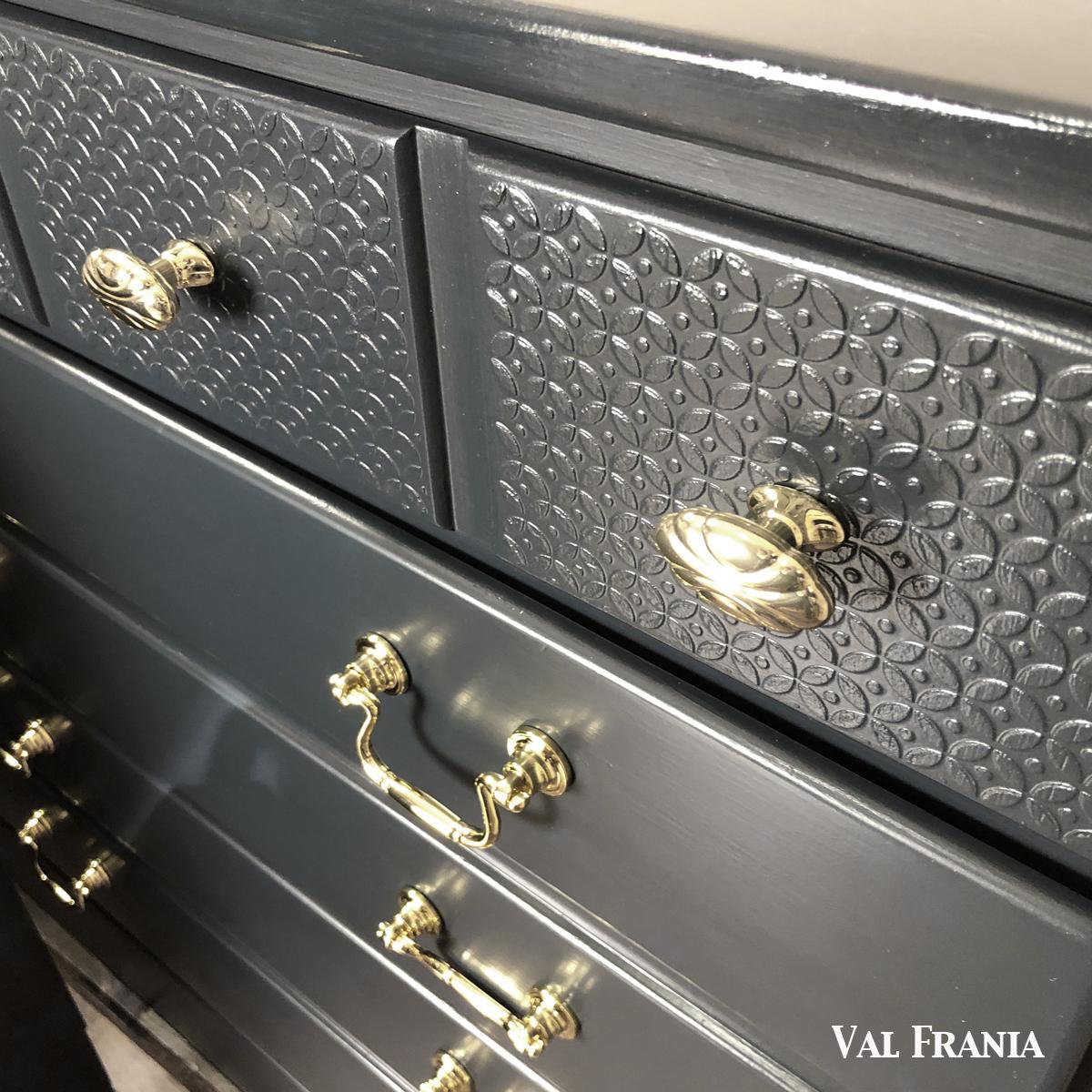 Navy Blue dresser hardware