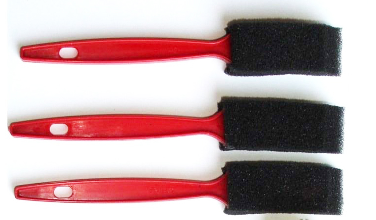 cheapo sponge brushes
