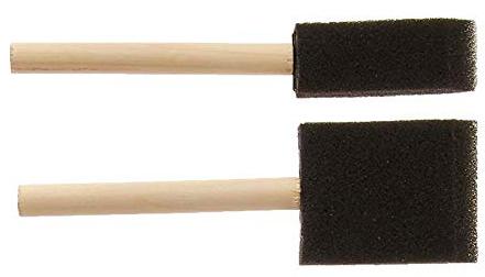 sponge brushes wood