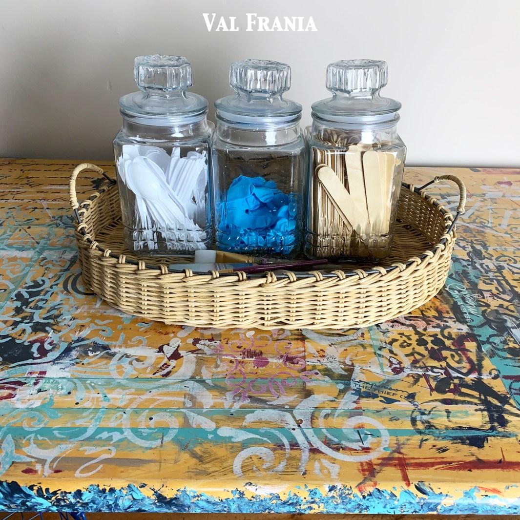 Artsy Table Jars close up