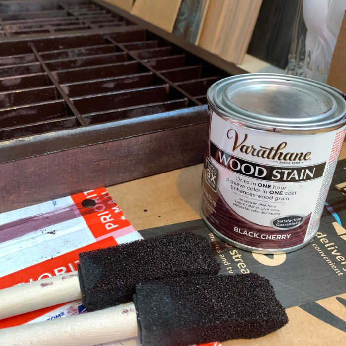 Typesetter stain products