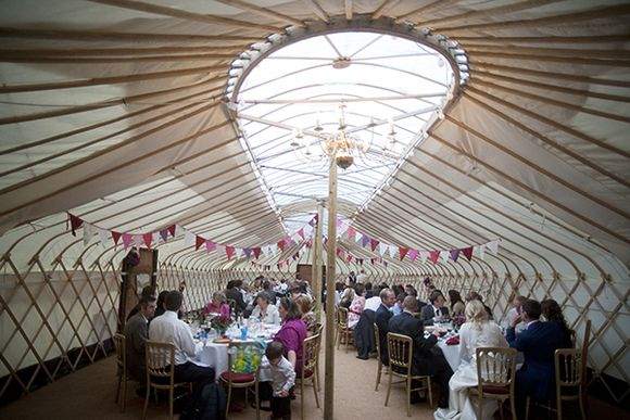 A Town Amp Country Yurt Wedding With Sign Language Origami