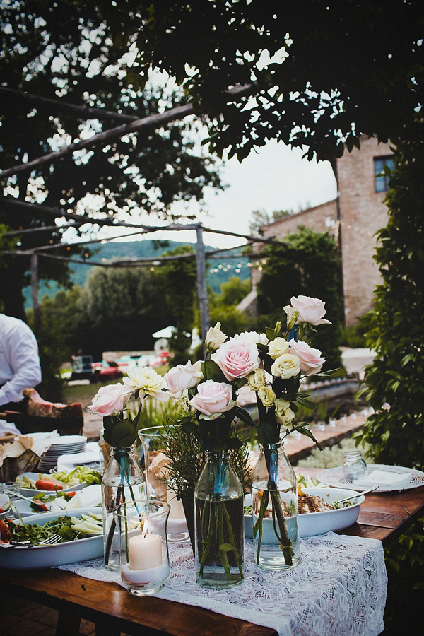 Roses In Garden: A Floral Wedding Gown For A Rustic Style, Summer Garden