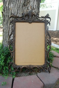 Fancy Framed Burlap Cork Board | lovemyelement
