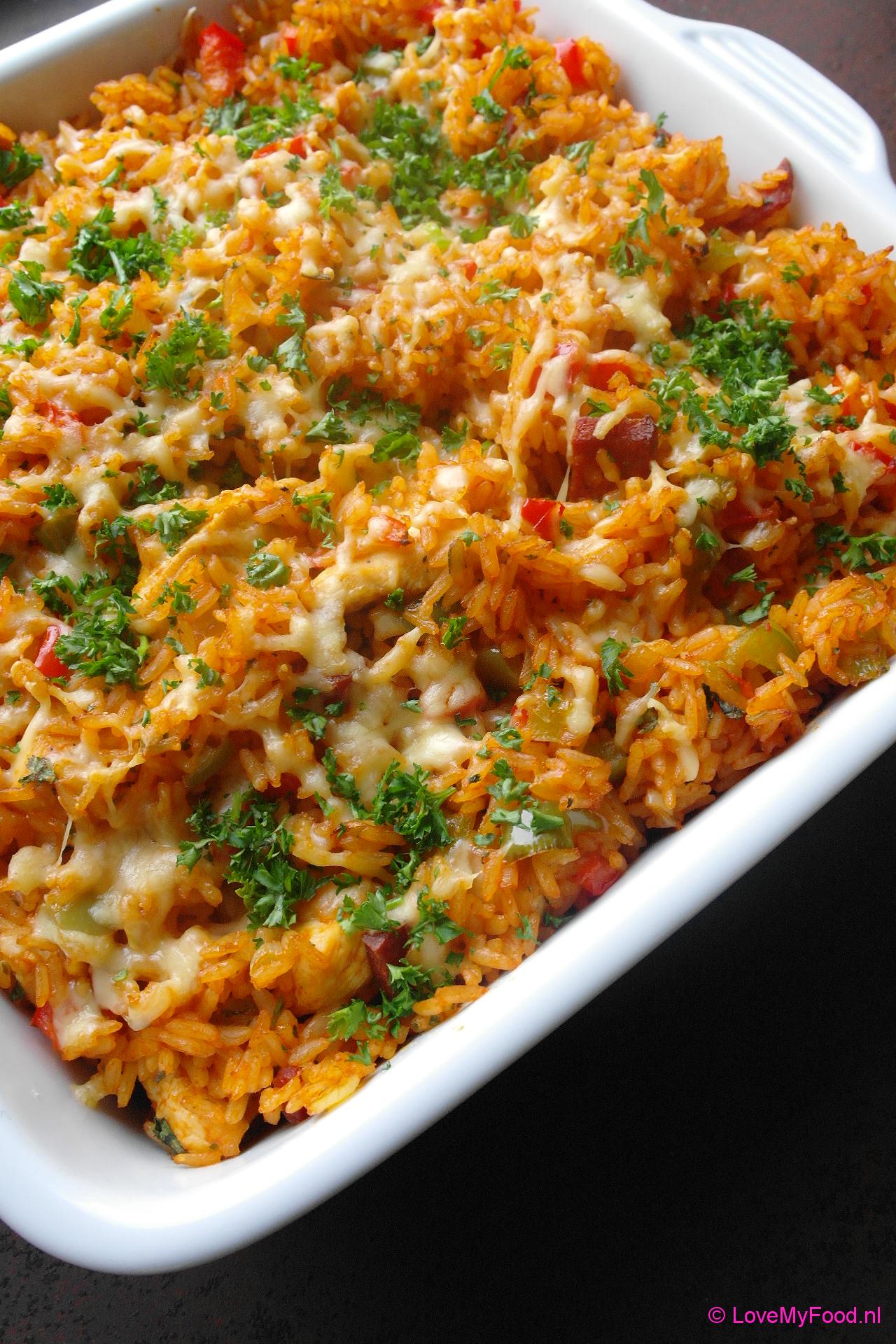 recept kip rijst