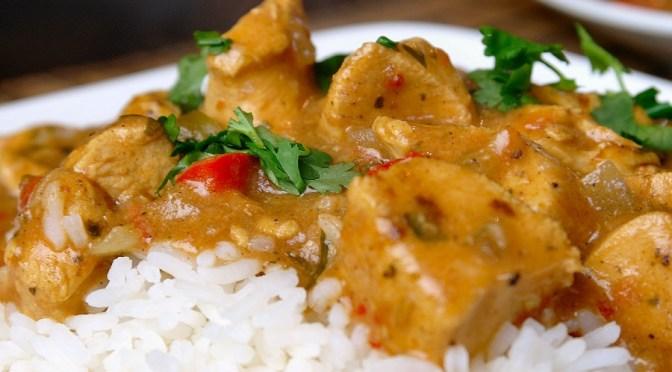 Crockpot: Pittige curry met kip