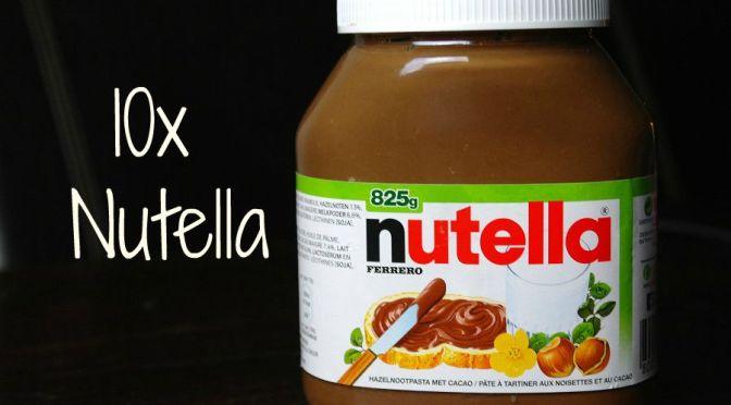 LMF's favorites: 10 x recepten met Nutella