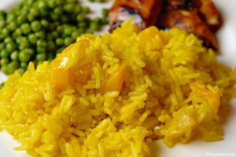 gele rijst met perzik 3