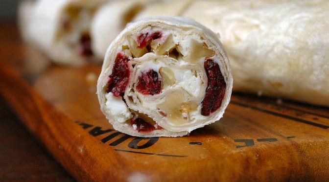 Wraps met cranberry, feta en walnoot