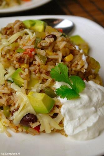 Mexicaanse rijstschotel 2