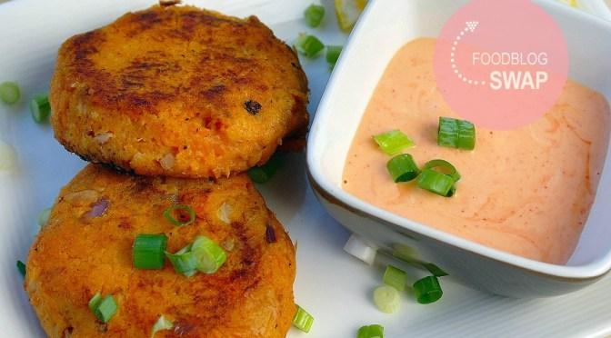 Zoete aardappelkoekjes met tonijn (Foodblogswap)