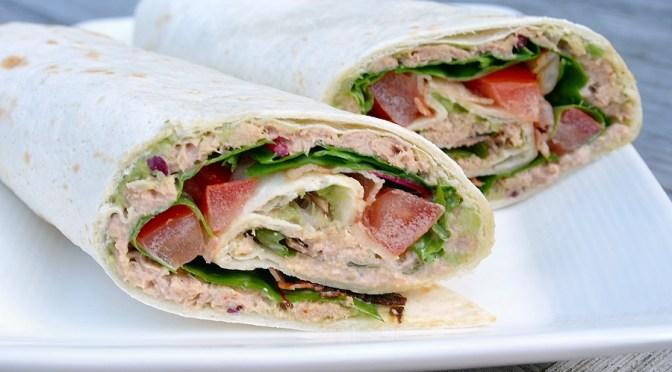 Wraps met tonijn en spek