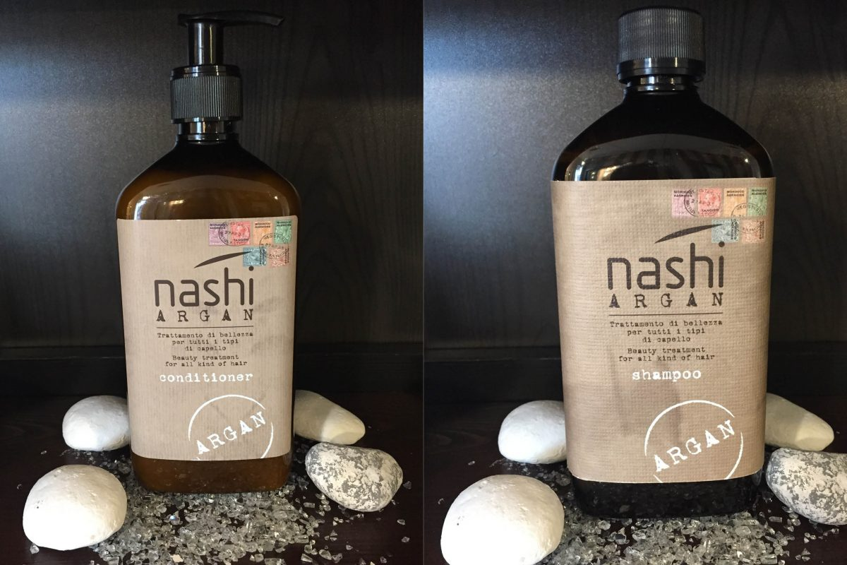 nashi argan shampoo und conditioner 500ml love my hair. Black Bedroom Furniture Sets. Home Design Ideas
