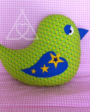 childrens bird cushion
