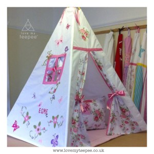 personalised shabby chic floral teepee