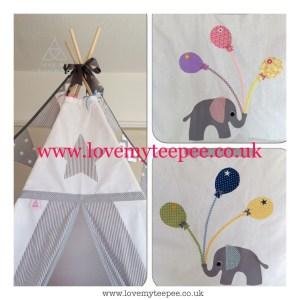 Childrens elephant teepee