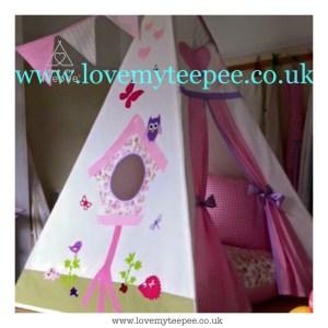 Childrens birdhouse teepee