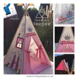 pink princess fairy tale castle bespoke teepee