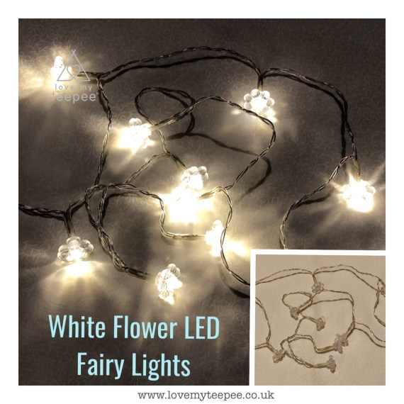 White Flower LED Fairy Lights