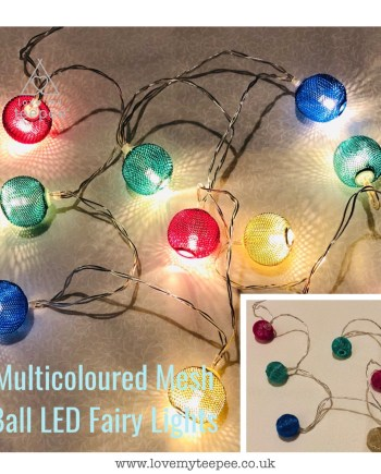 Multi Coloured Mesh Ball LED Fairy Lights