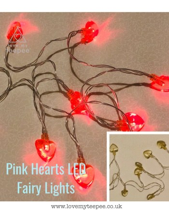 Pink Hearts LED Fairy Lights