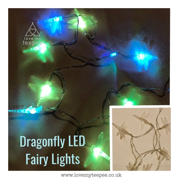 coloured Dragonfly LED Fairy Lights