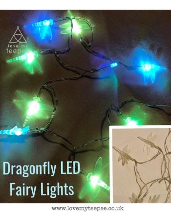 coloured Dragonfly LED Fairy Lights