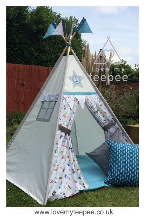 space rocket teepee tent