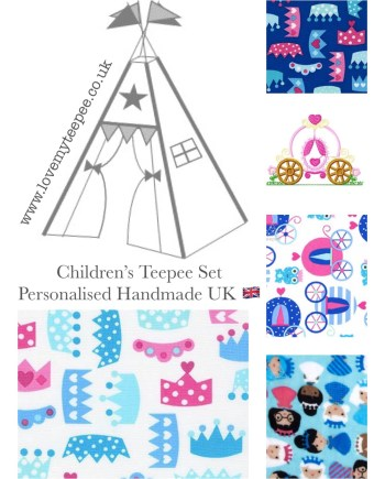 princess personalised teepee set