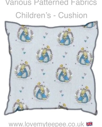 childrens perter rabbit cushions