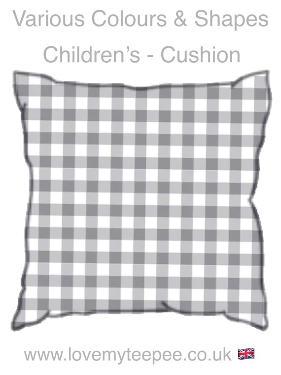 childrens checked gingham cushions