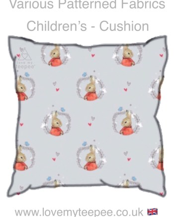 flopsy on grey childrens cushion