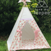girls pink rose and ivory shabby chic teepee tent