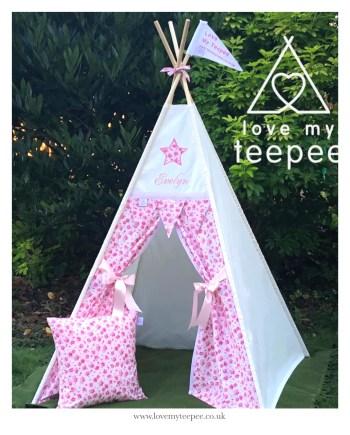 bella rose pink teepee tent set