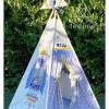 rocket appliqued teepee tent set