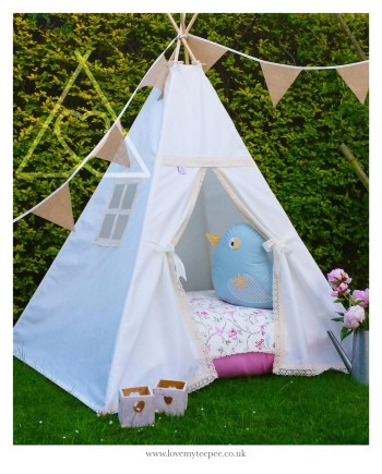 bird trail ivory lace teepee tent