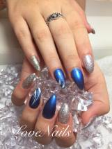 blue-and-silver