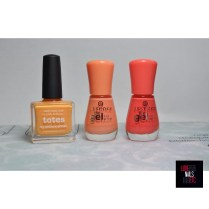 piCture pOlish totes - essence 57 ice cream party &12 mandarine bay
