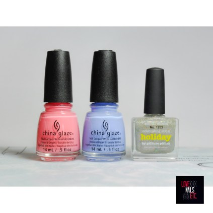 China Glaze pinking out ht window - Boho Blues ; piCture pOlish holiday