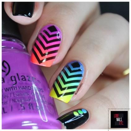 Rainbow geomtric nail art14