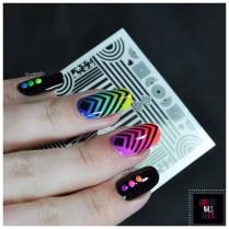 Rainbow geomtric nail art6